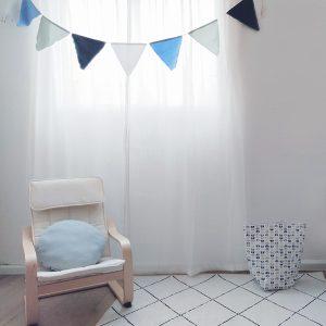 דגלונים לחדרי ילדים בגווני כחול