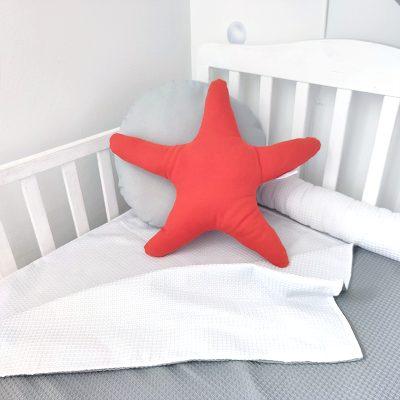 כריות לחדר ילדים - כרית כוכב ים כתום