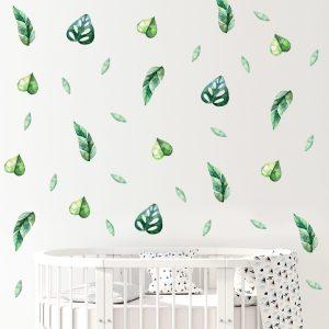 מדבקות קיר לחדרי ילדים - מדבקות קיר עלים