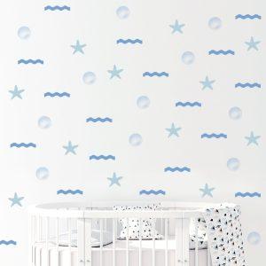מדבקות קיר לחדר ילדים - מדבקות קיר ים