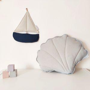 אקססוריז לחדר בנים - סירה כחול כהה