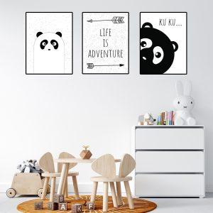 תמונות לחדרי ילדים ותינוקות - פנדה