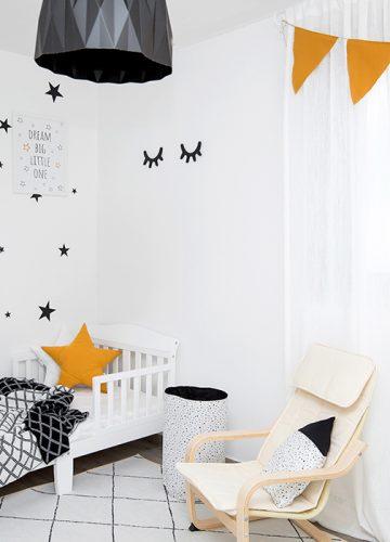 חדר ילדים בסגנון נורדי